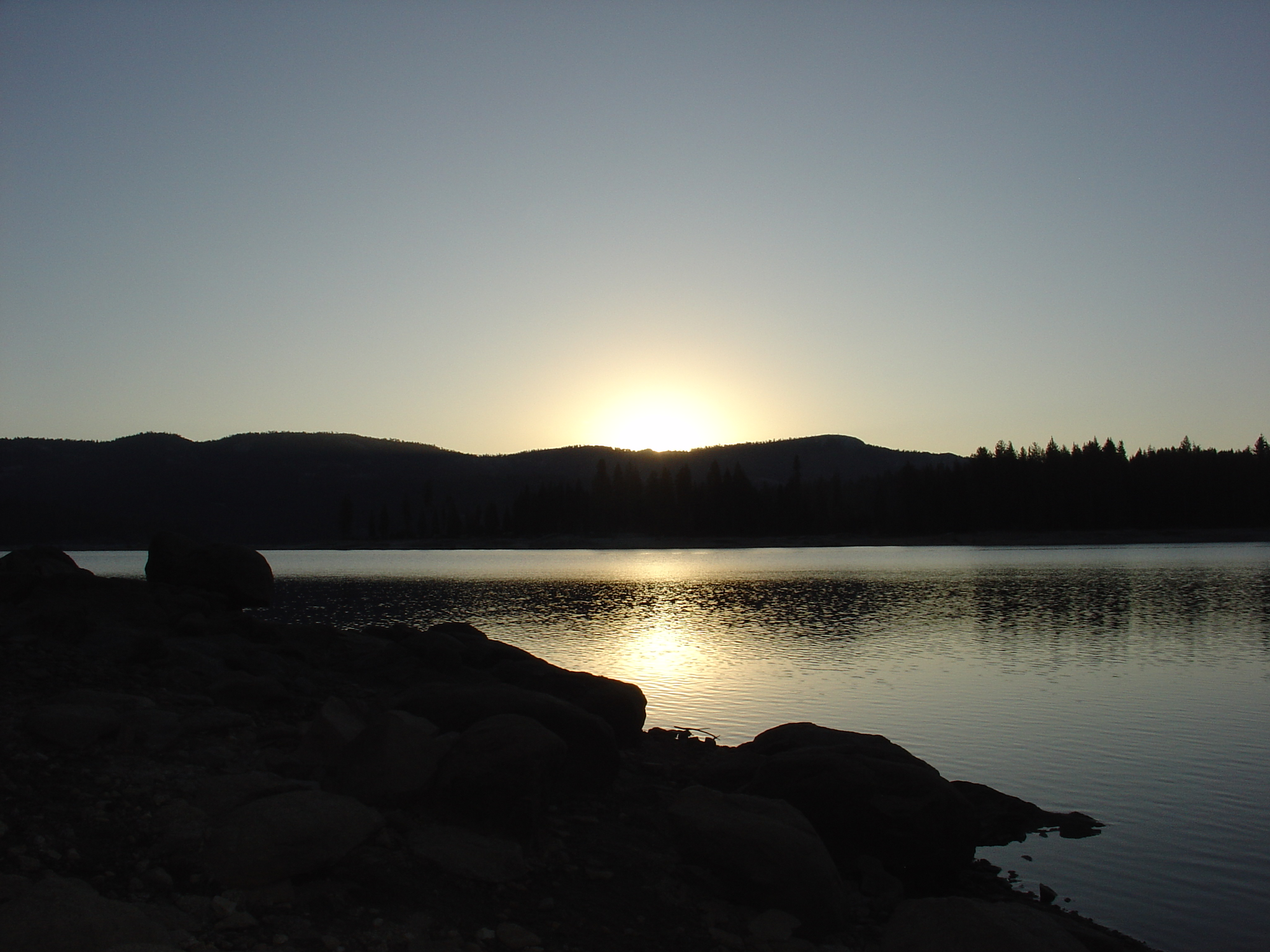 Sunrise over Shaver Lake, September 2009